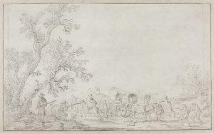 Faint drawing depicting ambush from eye level