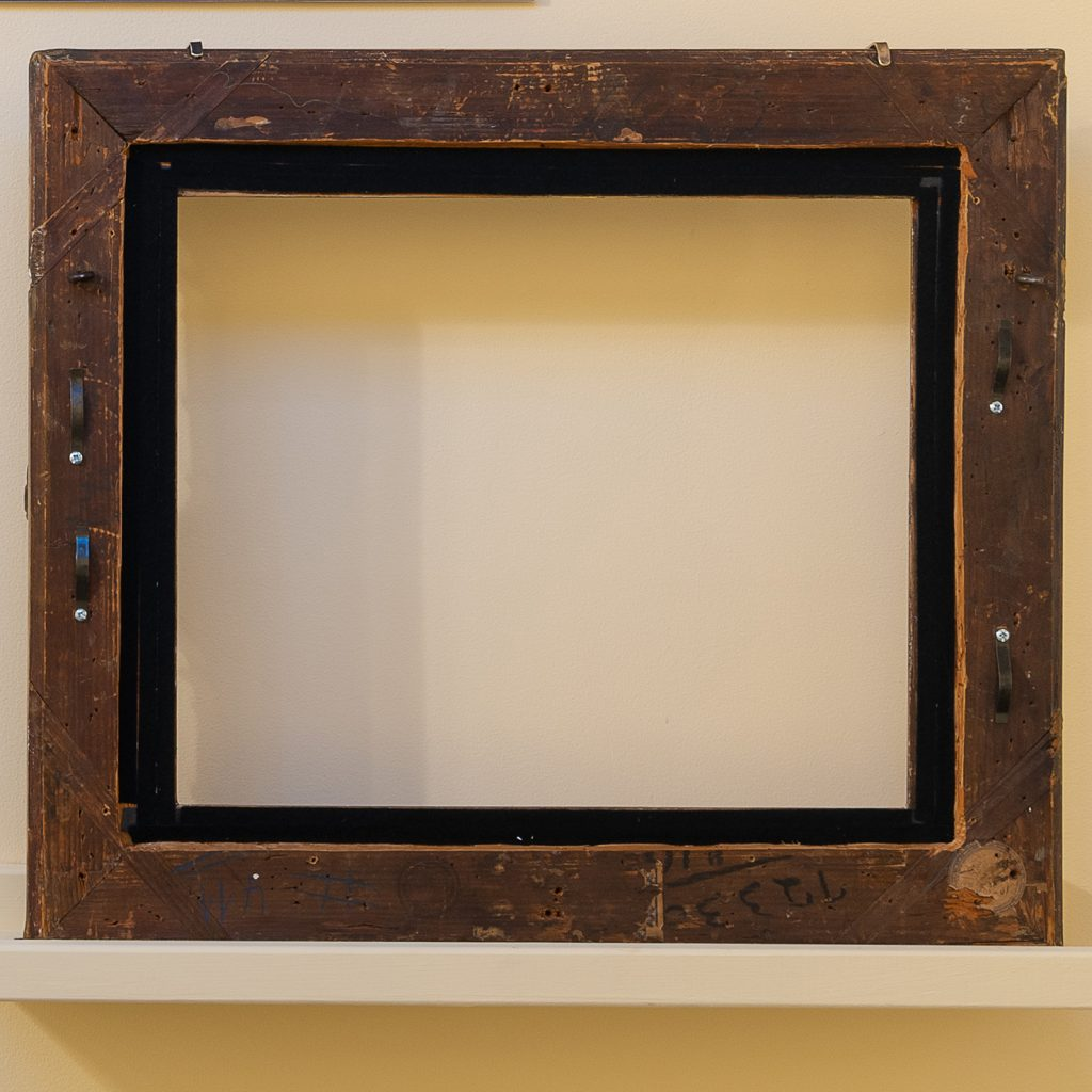 Back of wood frame